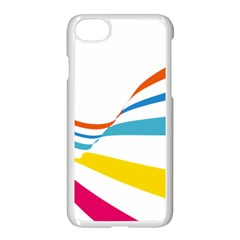 Line Rainbow Orange Blue Yellow Red Pink White Wave Waves Apple Iphone 7 Seamless Case (white)