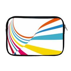 Line Rainbow Orange Blue Yellow Red Pink White Wave Waves Apple Macbook Pro 17  Zipper Case