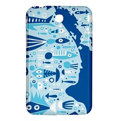 New Zealand Fish Detail Blue Sea Shark Samsung Galaxy Tab 3 (7 ) P3200 Hardshell Case