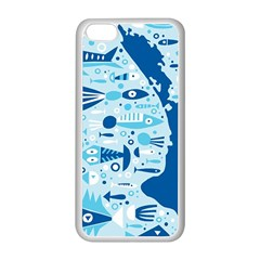 New Zealand Fish Detail Blue Sea Shark Apple Iphone 5c Seamless Case (white)