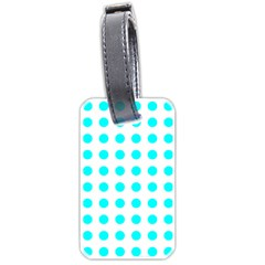 Polka Dot Blue White Luggage Tags (two Sides)
