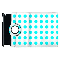 Polka Dot Blue White Apple Ipad 2 Flip 360 Case