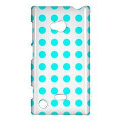 Polka Dot Blue White Nokia Lumia 720