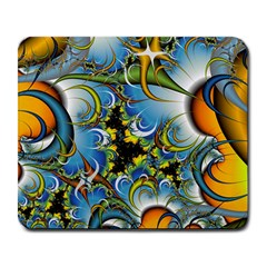 High Detailed Fractal Image Background With Abstract Streak Shape Large Mousepads