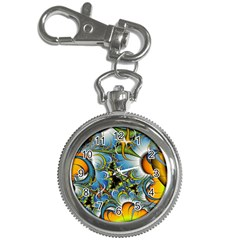 High Detailed Fractal Image Background With Abstract Streak Shape Key Chain Watches