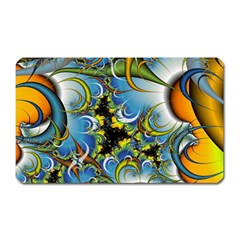 High Detailed Fractal Image Background With Abstract Streak Shape Magnet (rectangular)