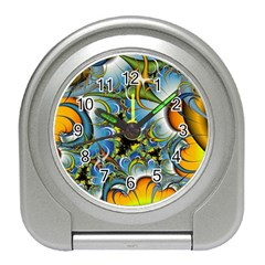 High Detailed Fractal Image Background With Abstract Streak Shape Travel Alarm Clocks