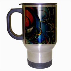 High Detailed Fractal Image Background With Abstract Streak Shape Travel Mug (silver Gray)