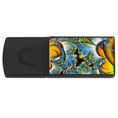 High Detailed Fractal Image Background With Abstract Streak Shape Usb Flash Drive Rectangular (4 Gb)