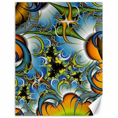 High Detailed Fractal Image Background With Abstract Streak Shape Canvas 18  X 24