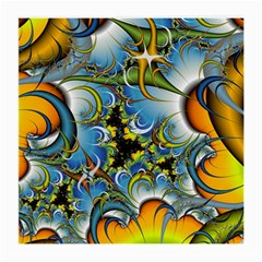 High Detailed Fractal Image Background With Abstract Streak Shape Medium Glasses Cloth (2 Side)