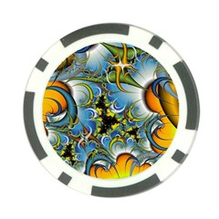 High Detailed Fractal Image Background With Abstract Streak Shape Poker Chip Card Guard (10 Pack)