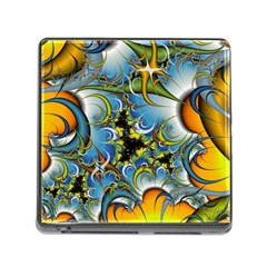 High Detailed Fractal Image Background With Abstract Streak Shape Memory Card Reader (square)
