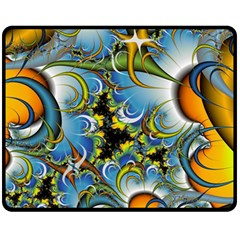High Detailed Fractal Image Background With Abstract Streak Shape Fleece Blanket (medium)