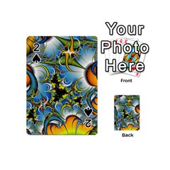 High Detailed Fractal Image Background With Abstract Streak Shape Playing Cards 54 (mini)