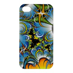 High Detailed Fractal Image Background With Abstract Streak Shape Apple iPhone 4/4S Premium Hardshell Case