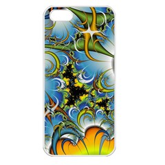 High Detailed Fractal Image Background With Abstract Streak Shape Apple iPhone 5 Seamless Case (White)