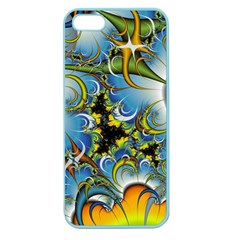 High Detailed Fractal Image Background With Abstract Streak Shape Apple Seamless iPhone 5 Case (Color)