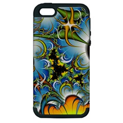 High Detailed Fractal Image Background With Abstract Streak Shape Apple iPhone 5 Hardshell Case (PC+Silicone)