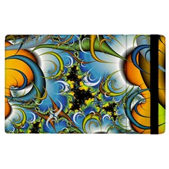 High Detailed Fractal Image Background With Abstract Streak Shape Apple Ipad 3/4 Flip Case