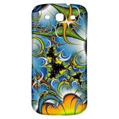 High Detailed Fractal Image Background With Abstract Streak Shape Samsung Galaxy S3 S III Classic Hardshell Back Case
