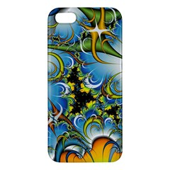 High Detailed Fractal Image Background With Abstract Streak Shape Apple iPhone 5 Premium Hardshell Case