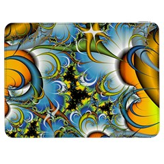 High Detailed Fractal Image Background With Abstract Streak Shape Samsung Galaxy Tab 7  P1000 Flip Case