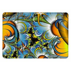 High Detailed Fractal Image Background With Abstract Streak Shape Samsung Galaxy Tab 8.9  P7300 Flip Case