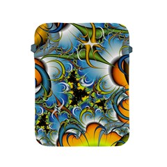 High Detailed Fractal Image Background With Abstract Streak Shape Apple iPad 2/3/4 Protective Soft Cases