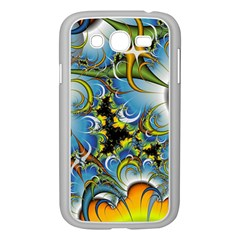High Detailed Fractal Image Background With Abstract Streak Shape Samsung Galaxy Grand DUOS I9082 Case (White)