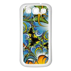 High Detailed Fractal Image Background With Abstract Streak Shape Samsung Galaxy S3 Back Case (White)
