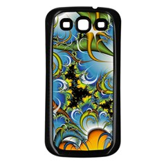 High Detailed Fractal Image Background With Abstract Streak Shape Samsung Galaxy S3 Back Case (Black)