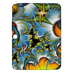 High Detailed Fractal Image Background With Abstract Streak Shape Samsung Galaxy Tab 3 (10.1 ) P5200 Hardshell Case