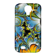 High Detailed Fractal Image Background With Abstract Streak Shape Samsung Galaxy S4 Classic Hardshell Case (PC+Silicone)