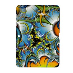 High Detailed Fractal Image Background With Abstract Streak Shape Samsung Galaxy Tab 2 (10.1 ) P5100 Hardshell Case