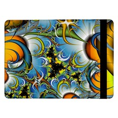 High Detailed Fractal Image Background With Abstract Streak Shape Samsung Galaxy Tab Pro 12.2  Flip Case