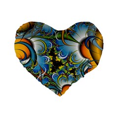High Detailed Fractal Image Background With Abstract Streak Shape Standard 16  Premium Flano Heart Shape Cushions