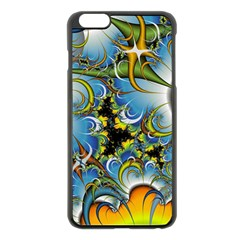 High Detailed Fractal Image Background With Abstract Streak Shape Apple Iphone 6 Plus/6s Plus Black Enamel Case