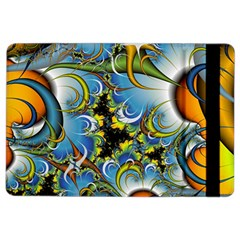 High Detailed Fractal Image Background With Abstract Streak Shape iPad Air 2 Flip
