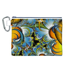 High Detailed Fractal Image Background With Abstract Streak Shape Canvas Cosmetic Bag (L)
