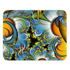 High Detailed Fractal Image Background With Abstract Streak Shape Double Sided Flano Blanket (Large)