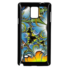 High Detailed Fractal Image Background With Abstract Streak Shape Samsung Galaxy Note 4 Case (black)