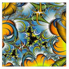 High Detailed Fractal Image Background With Abstract Streak Shape Large Satin Scarf (Square)