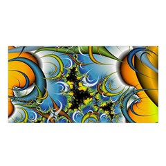 High Detailed Fractal Image Background With Abstract Streak Shape Satin Shawl