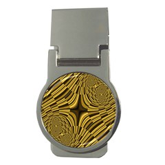 Fractal Golden River Money Clips (Round)