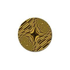 Fractal Golden River Golf Ball Marker