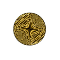 Fractal Golden River Hat Clip Ball Marker (4 pack)