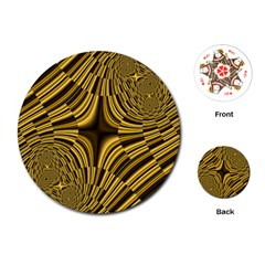 Fractal Golden River Playing Cards (Round)