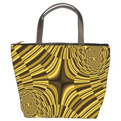 Fractal Golden River Bucket Bags