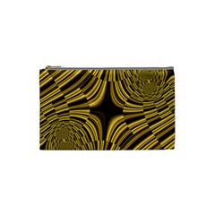 Fractal Golden River Cosmetic Bag (small)